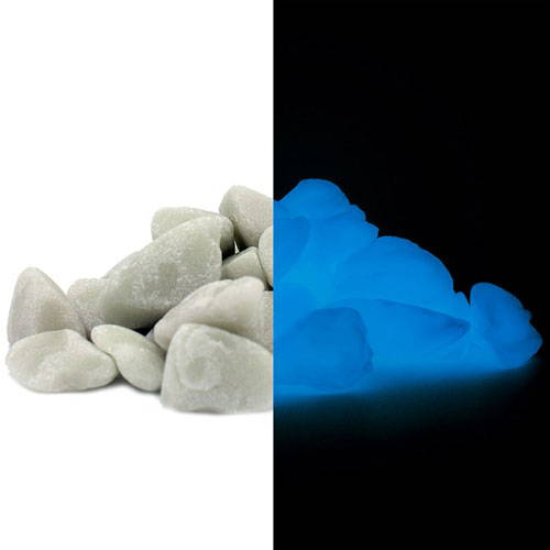 Large Blue Glow in the Dark Rocks