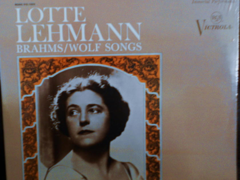 FACTORY SEALED ~ LOTTE LEHMANN ~  - BRAHMS & WOLF SONGS ~ RCA VICS 1320(e) (1968)