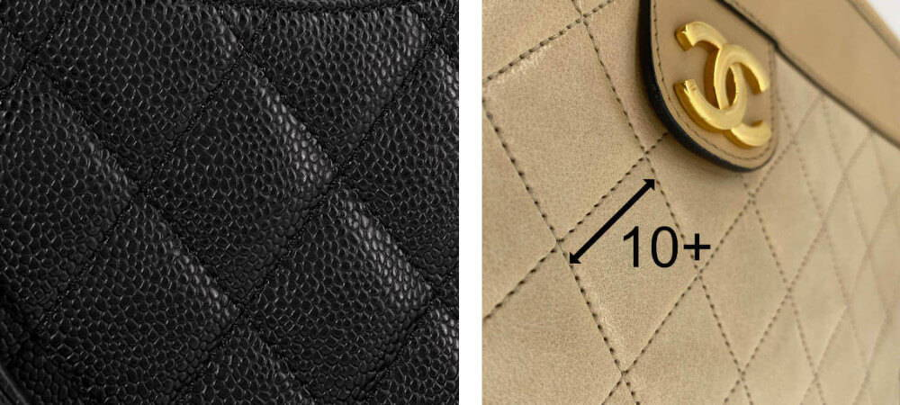 Authentic Chanel quilting and stitching