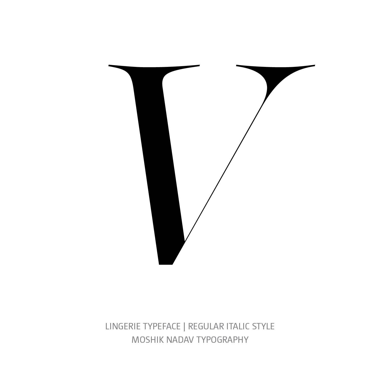 Lingerie Typeface Regular Italic V - Fashion fonts by Moshik Nadav Typography