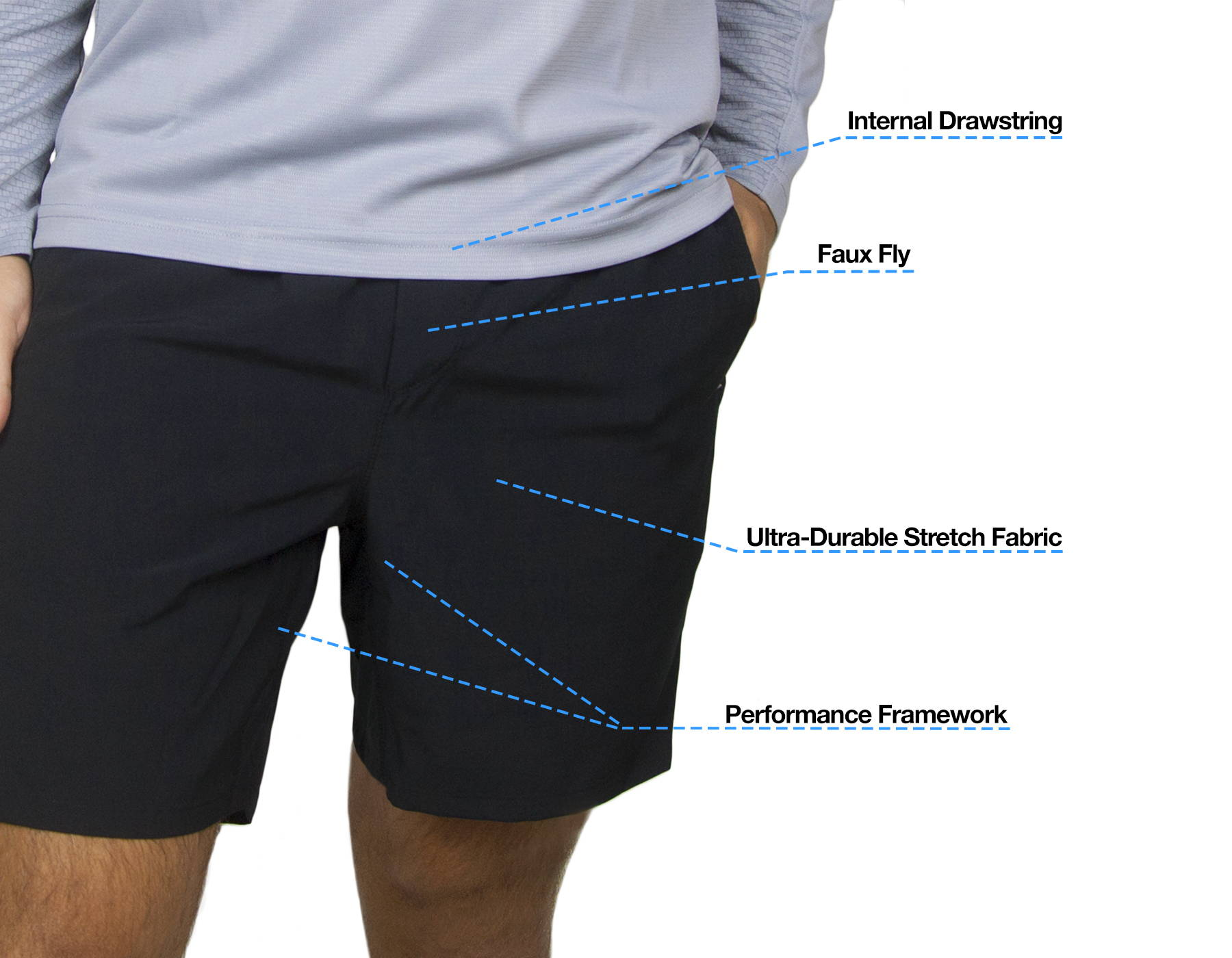 Bearbottom Active Shorts Front