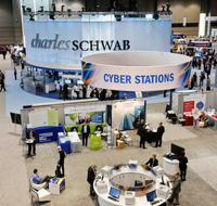 Schwab was eating its own booth cooking by the cauldron.