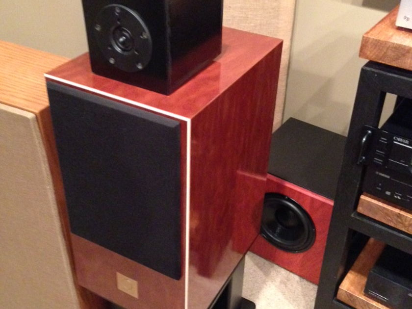 Omega Speaker Systems Aperiodic 8 (Hempcone driver version) with Skylan Stands