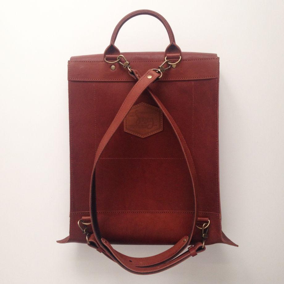 Кожаный рюкзак Envelope Cognac