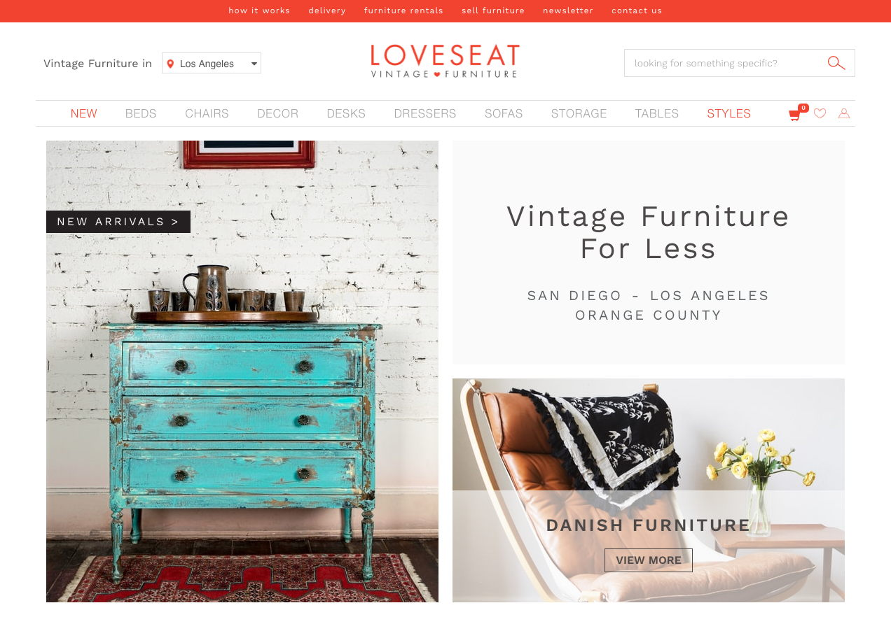 Loveseat.com Vintage Furniture