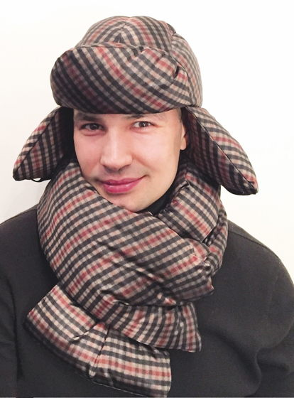 шапка+шарф на пуху