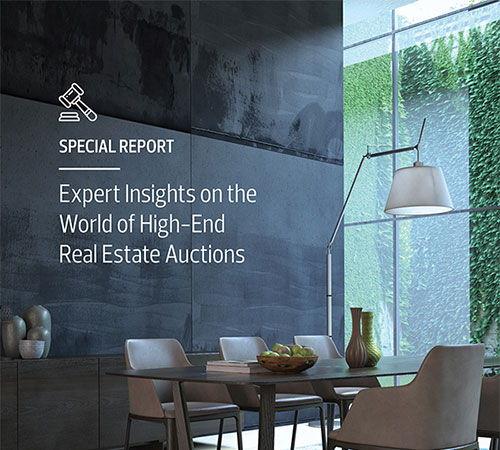 Rapport spécial : Le point de vue d'experts sur le monde des ventes aux enchères immobilières haut de gamme (2020)