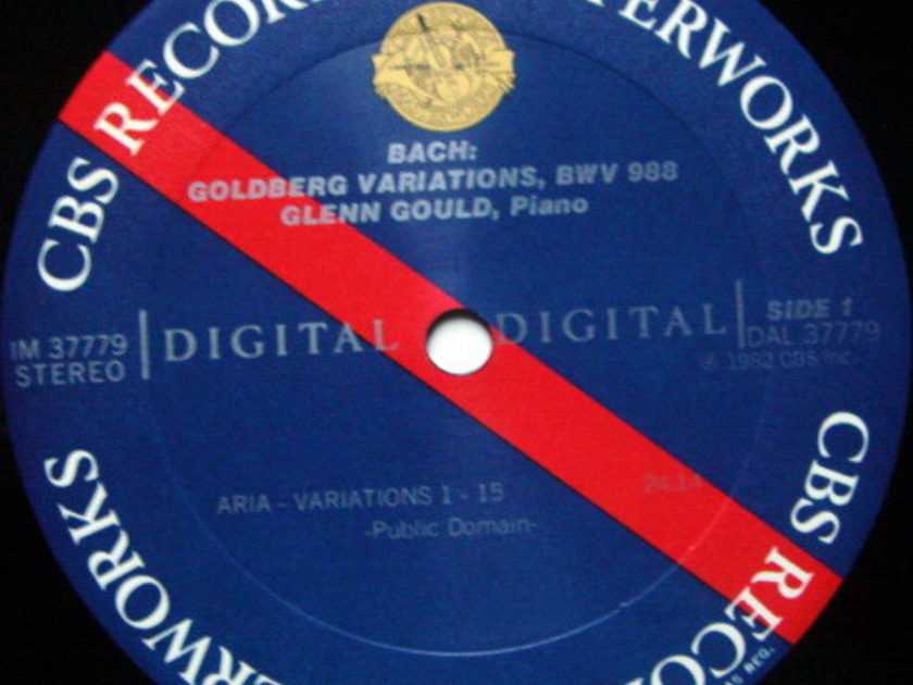 CBS Digital / GLENN GOULD, - Bach Goldberg Variations, Special Gate-folder Version, MINT!