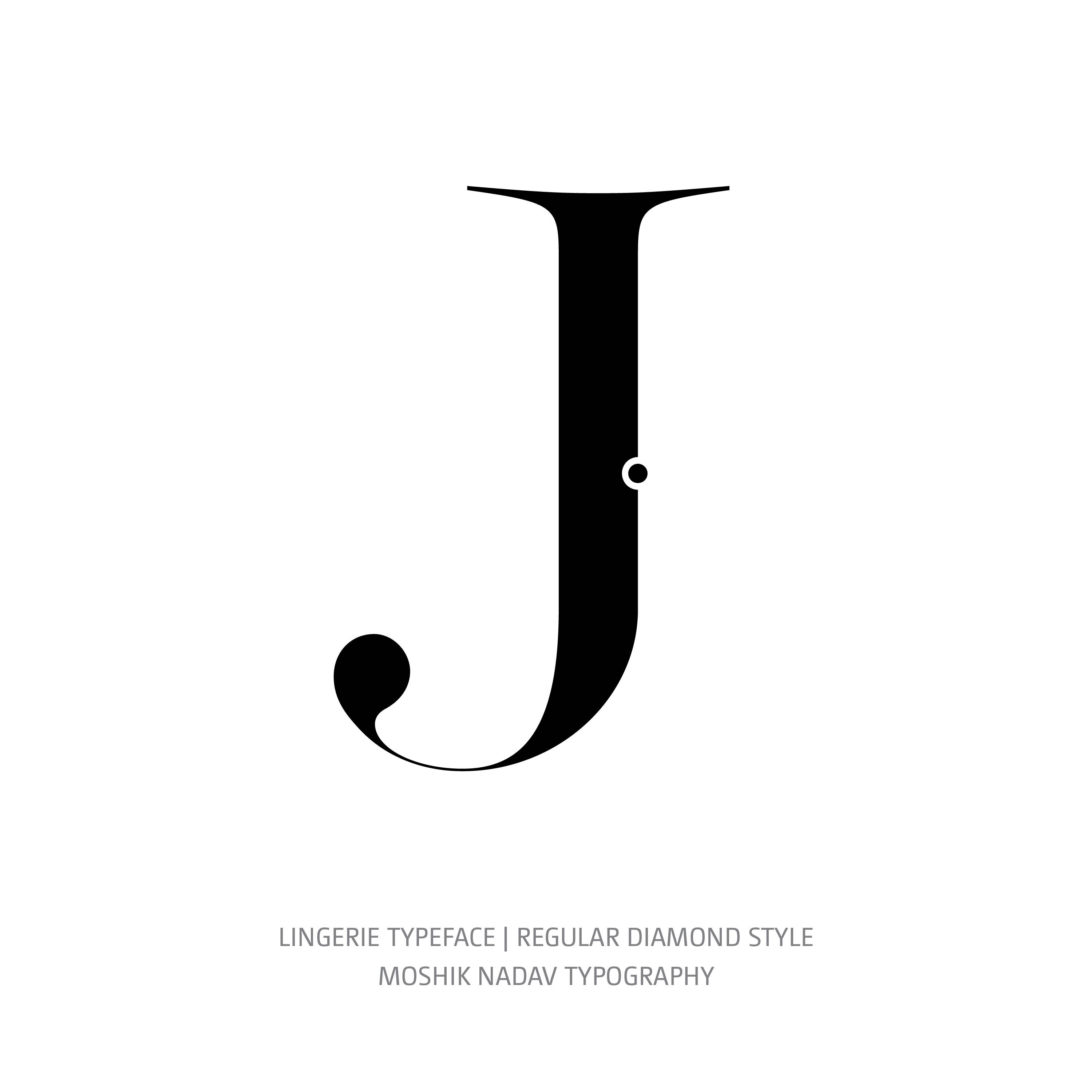 Lingerie Typeface Regular Diamond J