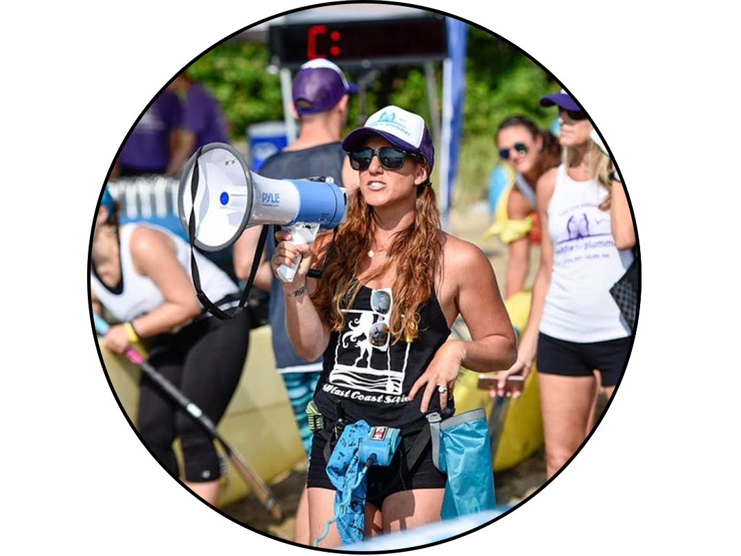 Leah Beth Goodman  Profession: Stoke Master Mermaid, Entrepreneur, Boss lady and Owner of Sup East Coast Style  Accolades: 2017 best of BONS award winner, 2017 SUP Connect Peoples Choice awards event of the year for Paddle For Plummer, Dog Mom of lolo💛 Hobby: Adventure Paddler/Explorer, SUP Race Team Coach, Ocean and Beach Lover, Fitness And Nutrition Junkie, Diva Stoker  From: Marblehead, Ma Pau Hana Surf Supply Team Rider