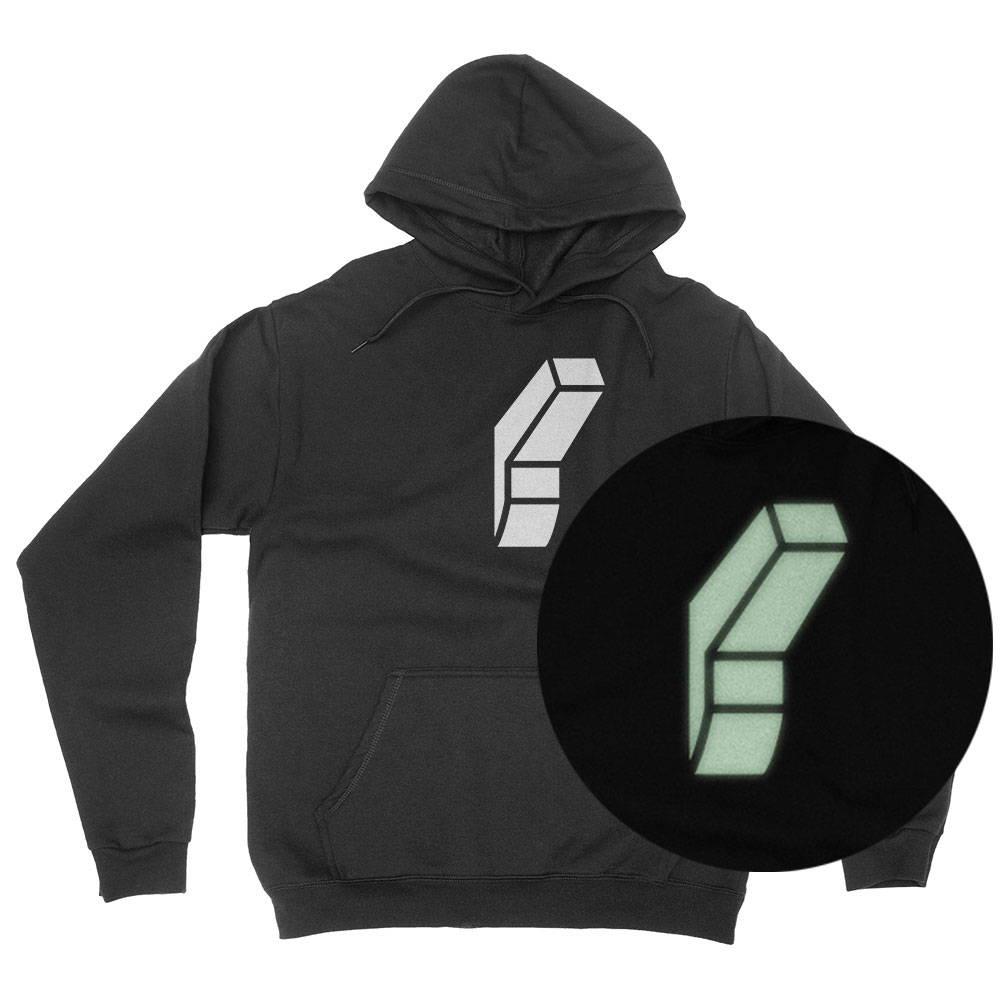 Glow-in-the-dark screenprinted hoodie