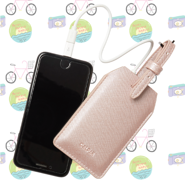 CALPAK POWER LUGGAGE TAG SHIMMER PINK