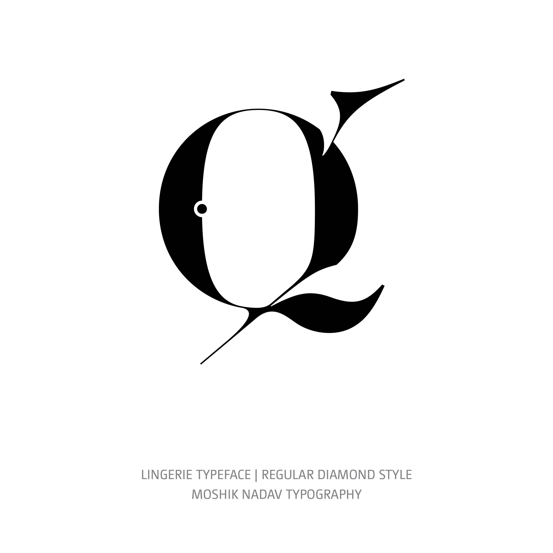Lingerie Typeface Regular Diamond q
