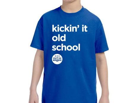 """Kids T-Shirt - """"Kickin' It Old School"""""""