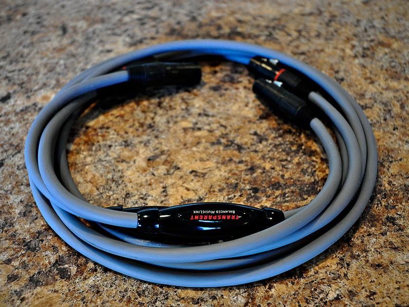 Transparent Audio MM1 Balanced Interconnects  2 Meter Pair