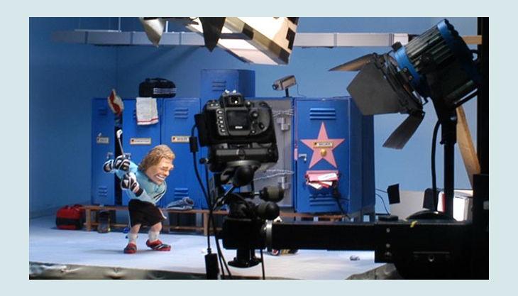 bester geburtstagde trickfilmland studio tour knete icehockey spieler umkleide
