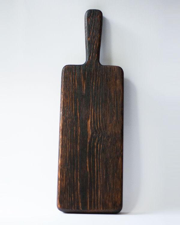 Большая кухонная доска из дерева - брашированная
