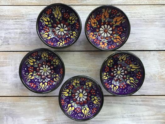 Набор ярких керамических соусниц (5 шт)