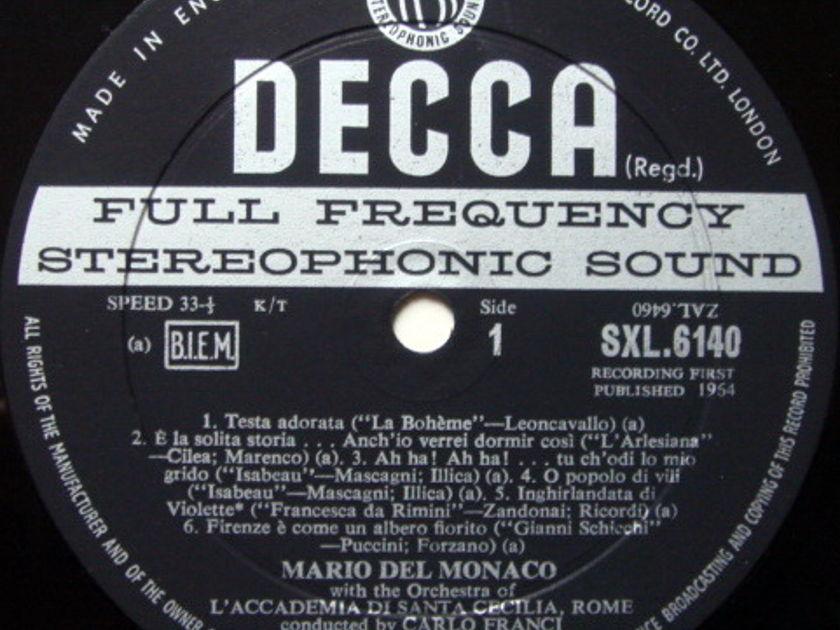 DECCA SXL-WB-ED2 / DEL MONACO, - Italian & German Arias, NM-!