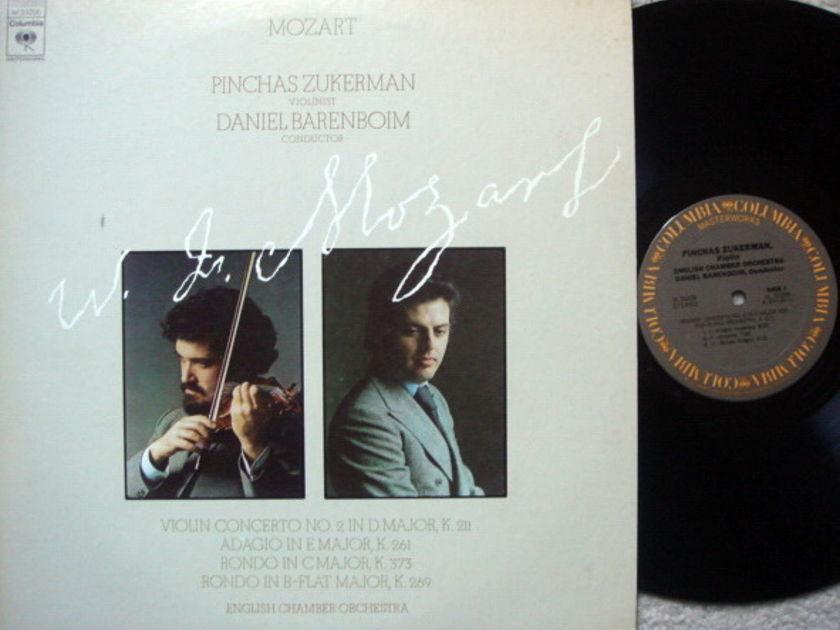 Columbia / ZUKERMAN-BARENBOIM, - Mozart Violin Concertos No.2, NM!