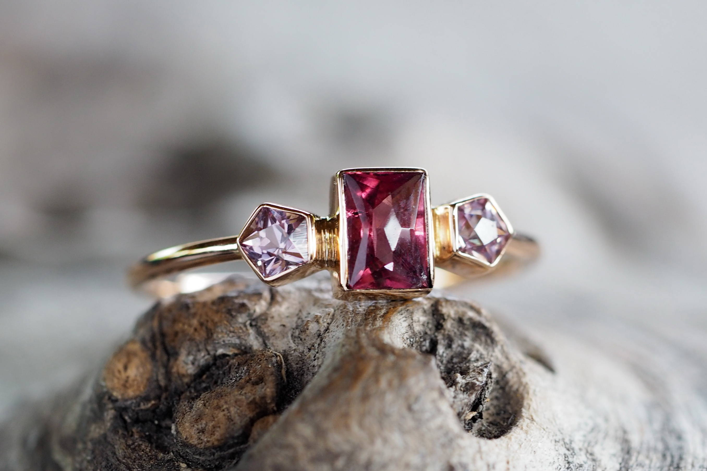 Montana Garnet and Spinel Rose Gold Ring
