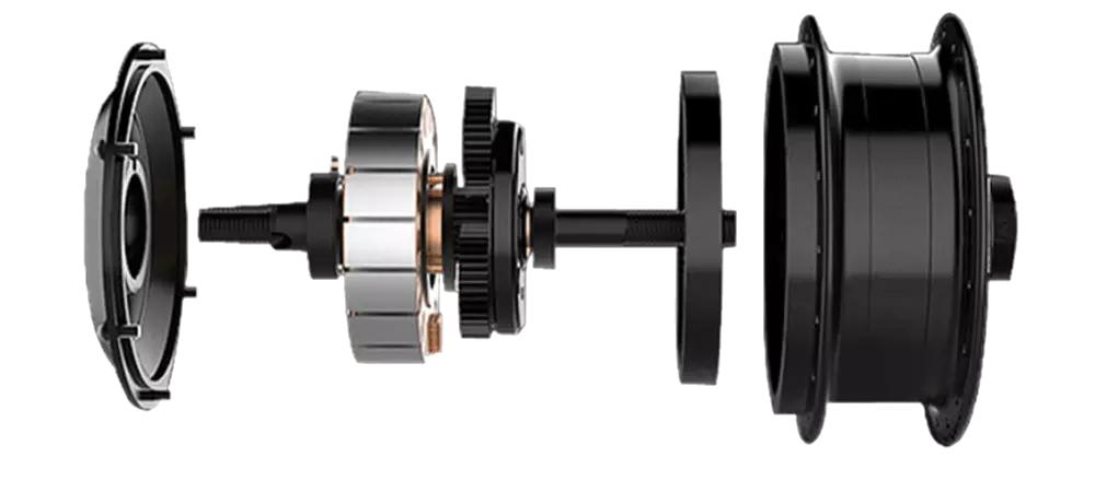 Bild von dem kraftvollen Motor des Veloic Concept
