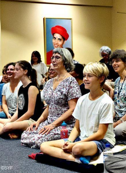 Children and Families Participating in Satsang