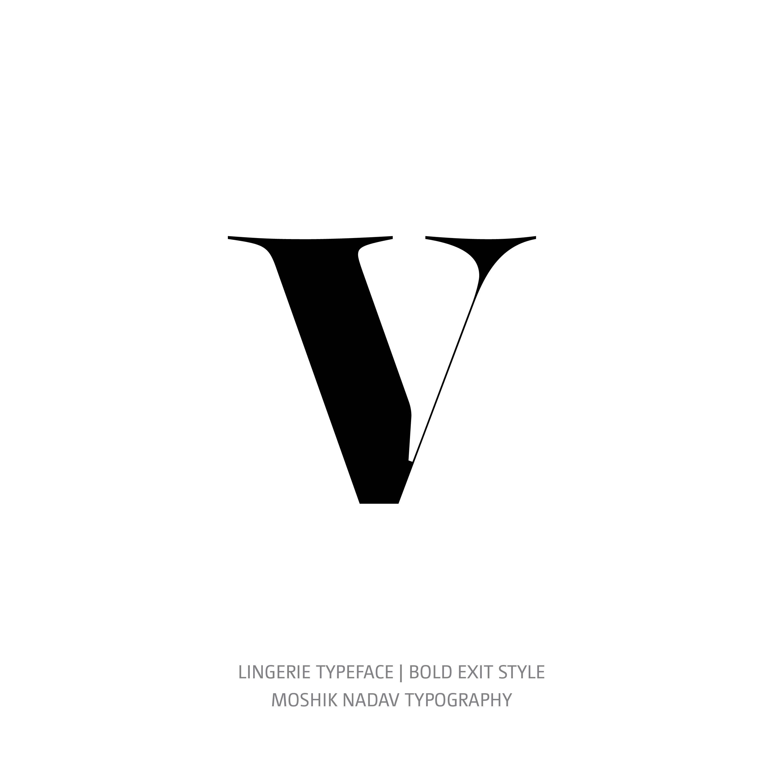 Lingerie Typeface Bold Exit v