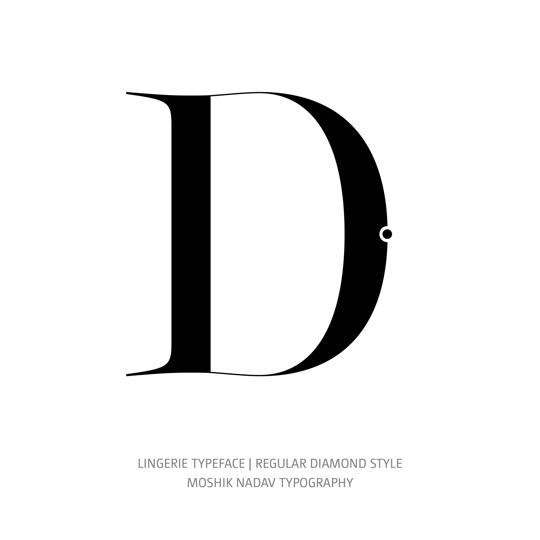 Lingerie Typeface Regular Diamond D