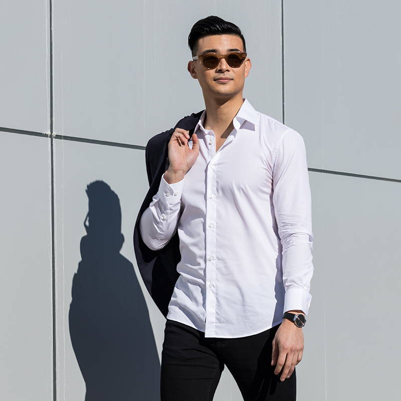 white-slim-dress-shirt-model-standing