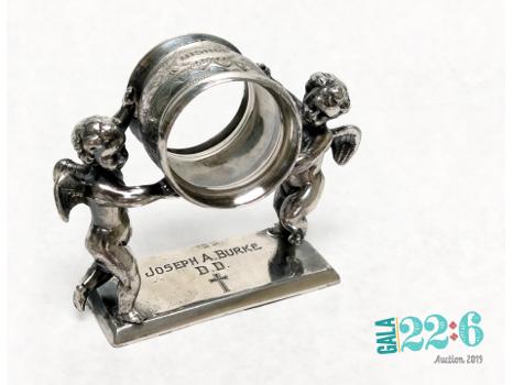 Bishop Burke's Antique Silver Napkin Ring