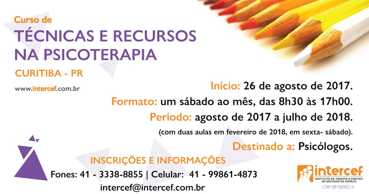INTERCEF - Curso de Técnicas e Recursos na Psicoterapia