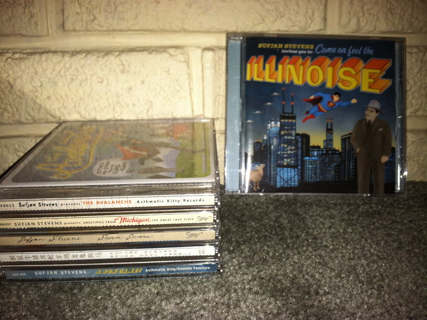 Sufjan Stevens - Lot of 6 CD / One is VERY RARE free shipping and Free Paypal