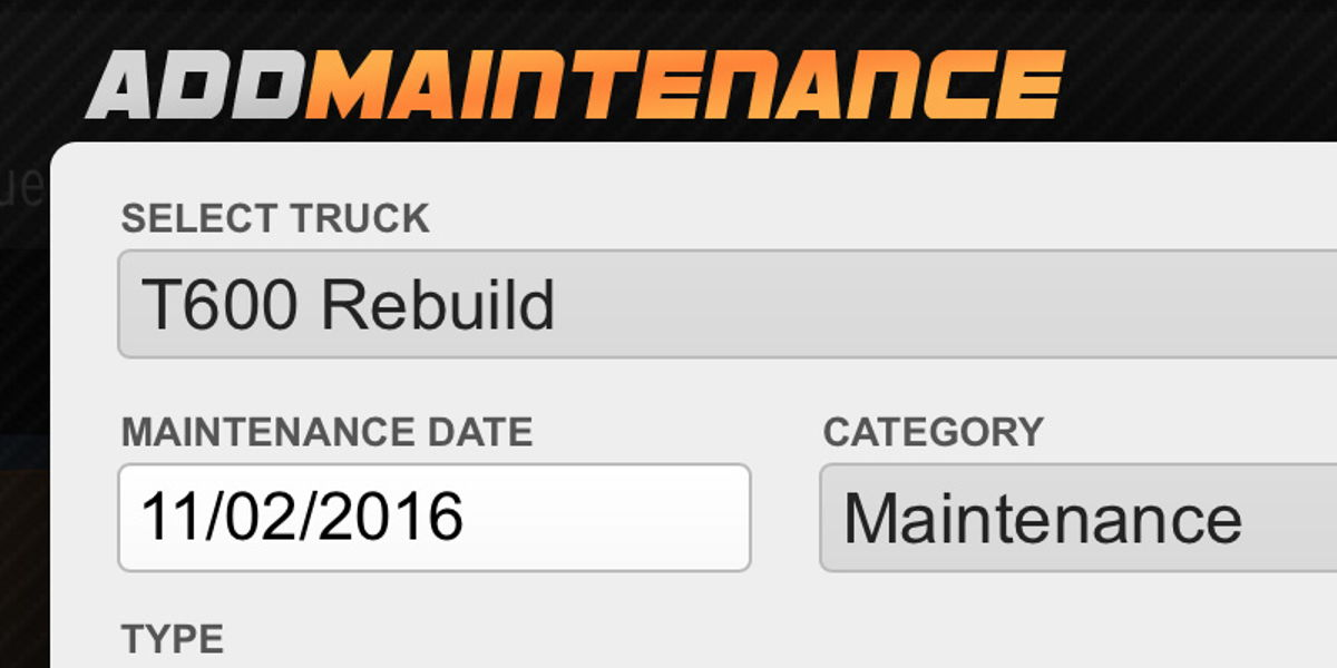 add maintenance receipts to sync with Profit Gauges and track health of truck
