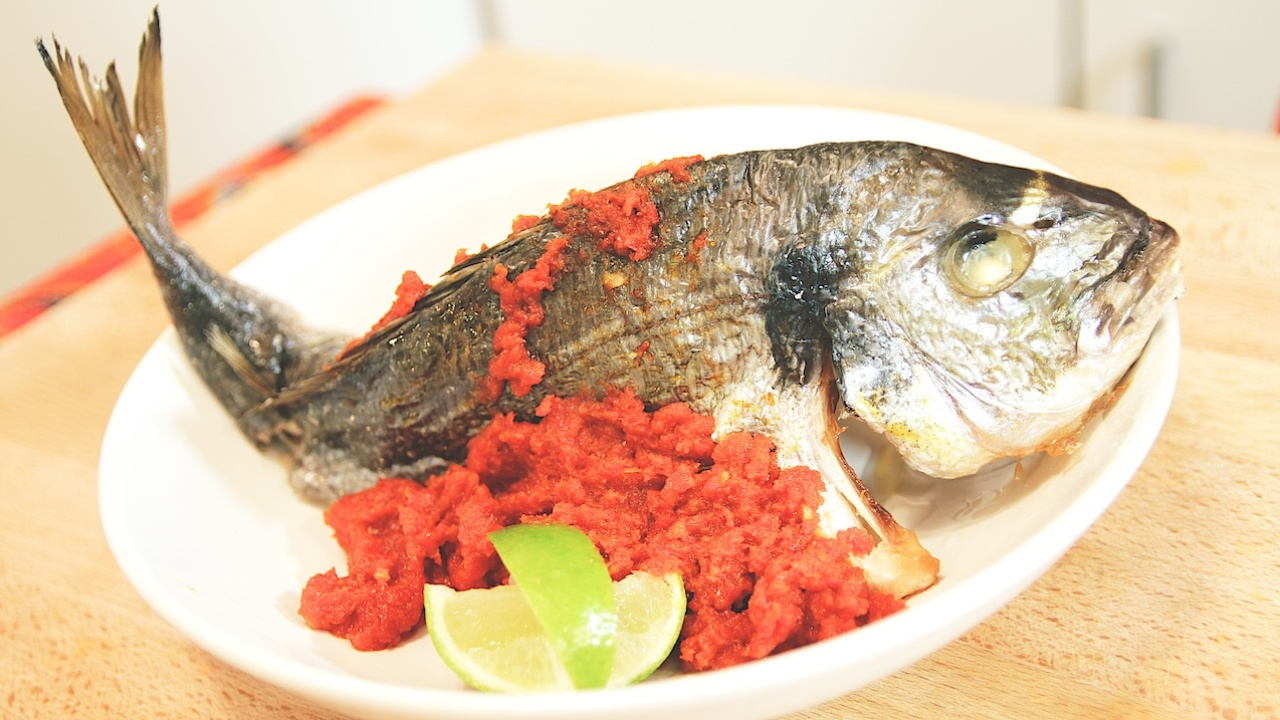 Malaysian Grilled Fish in Chilli Paste