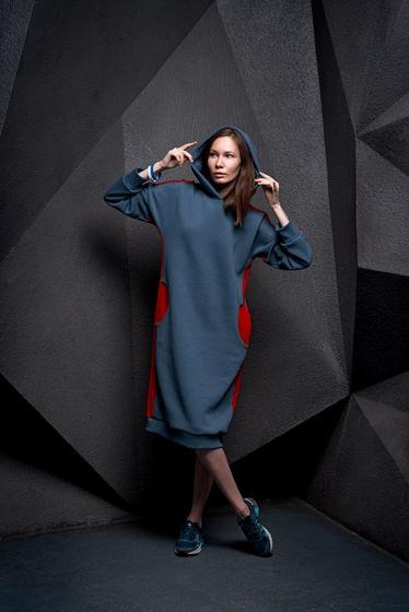 Утепленное платье с капюшоном all4escape