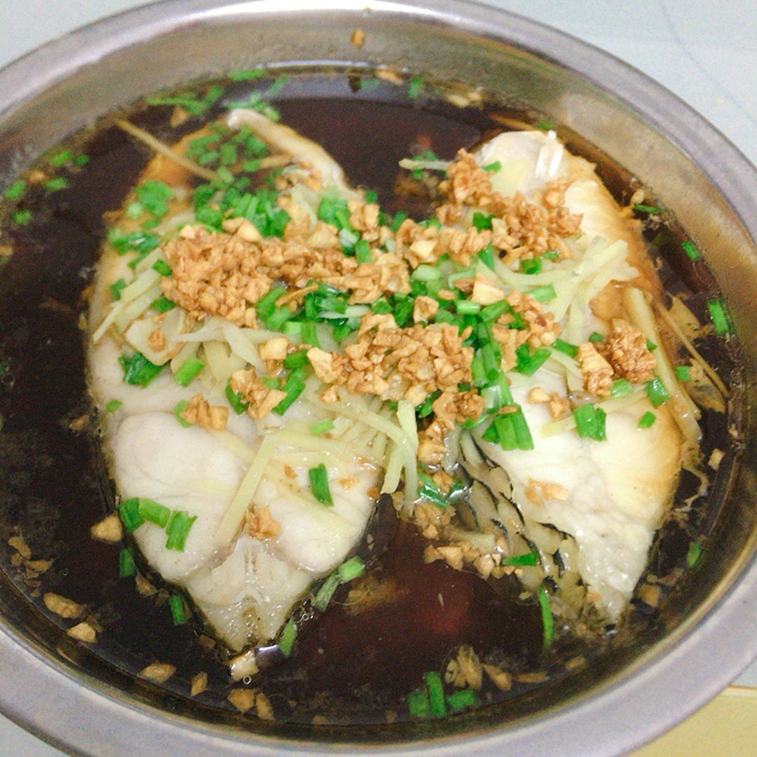 Steamed fish. I put one turmeric leaf. Wow smells fragrant and delicious 😋