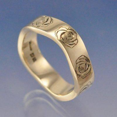 cremation ash wedding ring