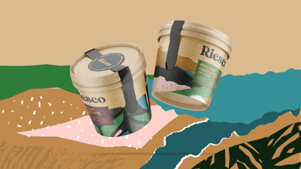Widarto Impact delivering sustainable packaging design for Riesco Natural Iced Cream