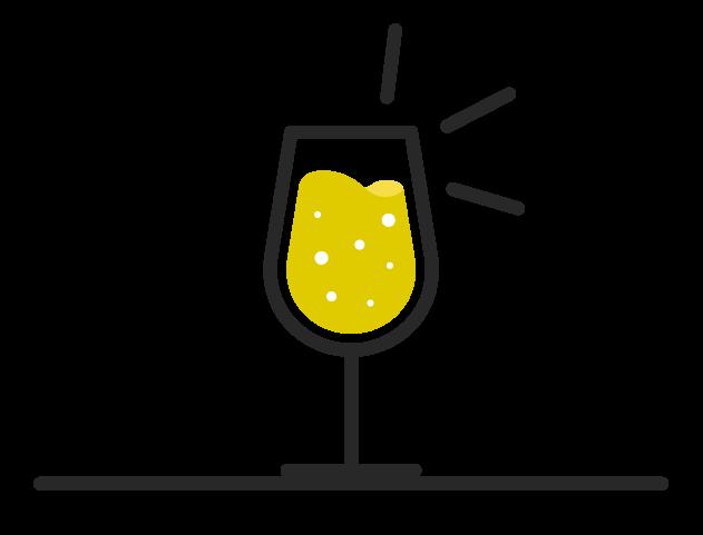 Wine class icon containing a wine spritzer.