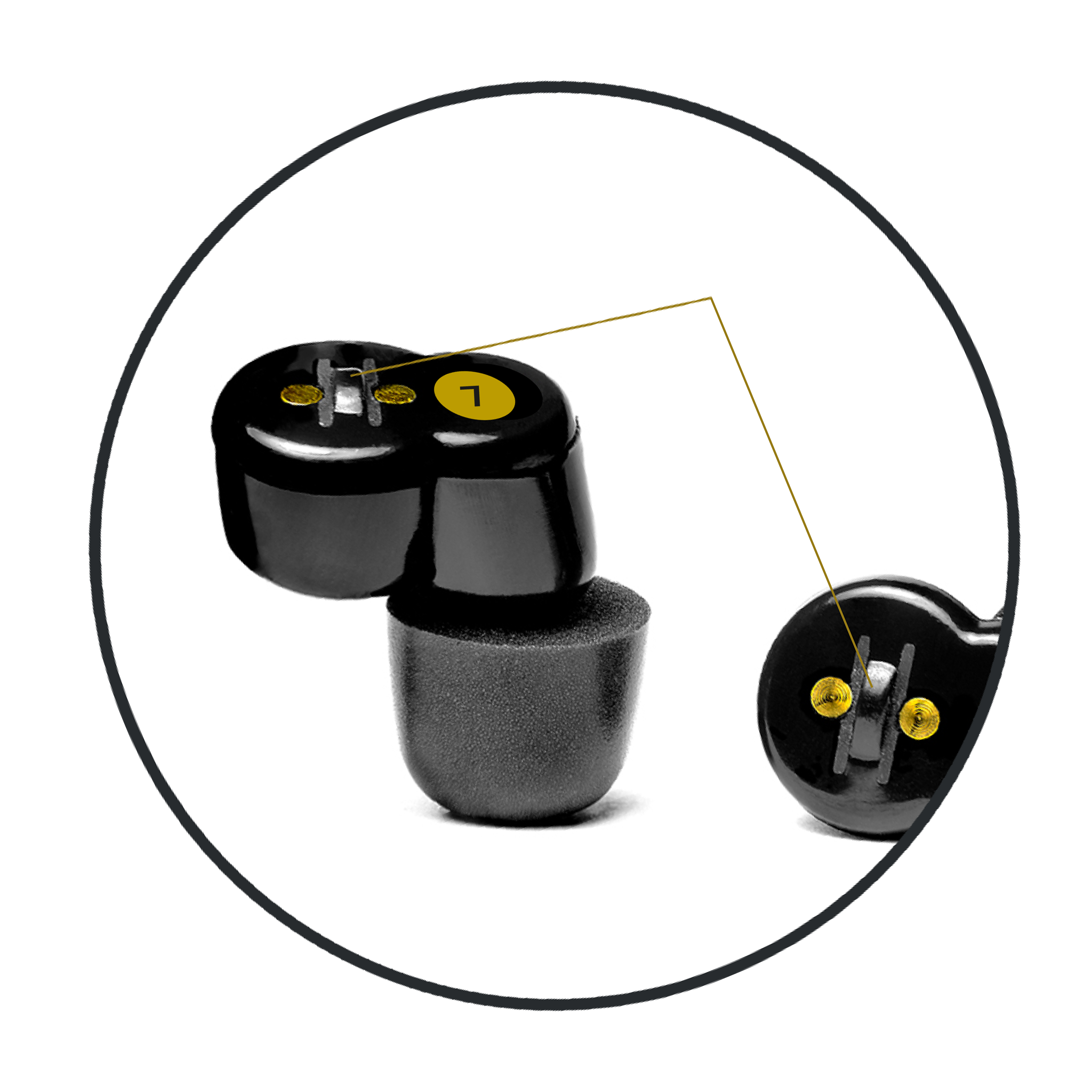QuietOn earbud switch detail