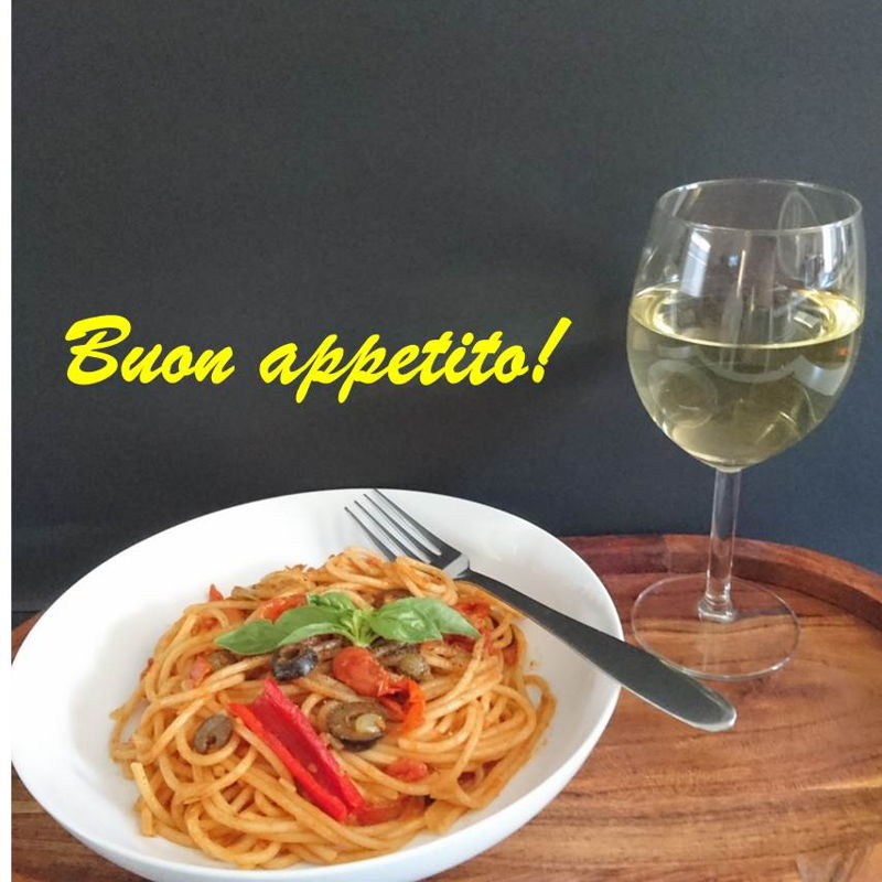 Date: 14 Dec 2019 (Sat) 46th Main: Spaghetti Puttanesca (Spaghetti with Olives and Capers) [144] [129.8%] [Score: 9.3] Cuisine: Italian, Malaysian, Singaporean Dish Type: Main The spaghetti goes excellently well with Sauvignon Blanc Semillon.   Grazie Nyonya Cooking.