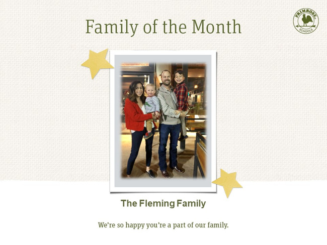 family of the month mom dad brothers sons blue red primrose school preston meadow