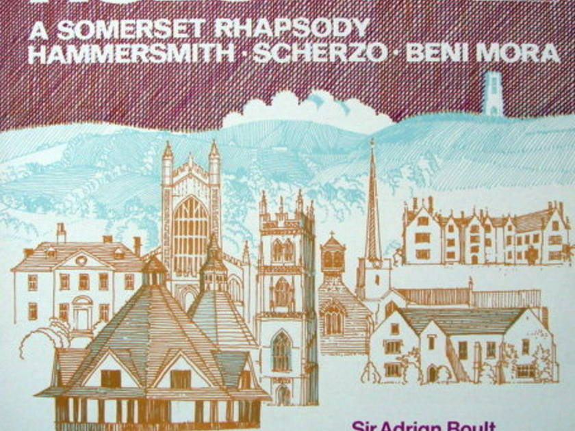 ★Audiophile★ Lyrita-Decca / BOULT, - Holst A Somerset Rhapsody, MINT!