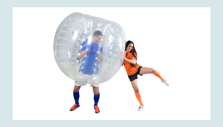 bubblefootball mannimbumperz gegen frauorange
