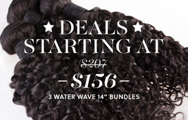 Shop Water Wave Hair 14 inch 3 Bundle Deal