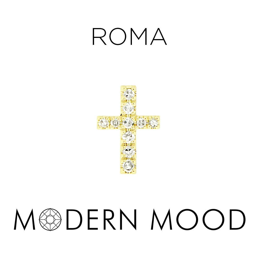 roma cross religious diamond piercing jewelry