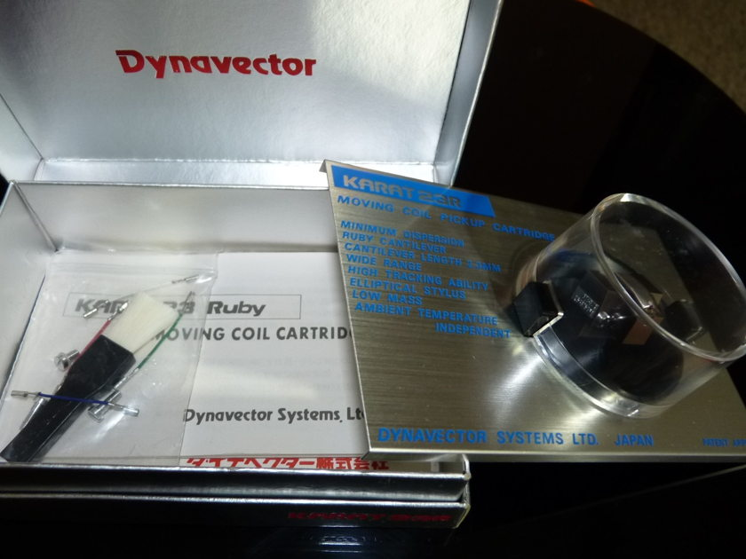 Dynavector Karat 23R cartridge low output moving coils ruby cantilever