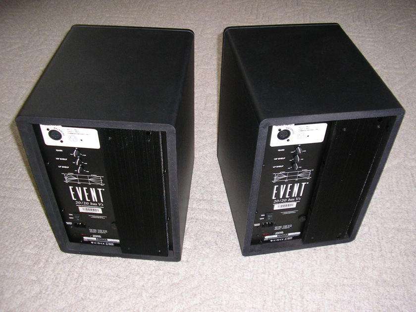 Event Audio 20/20 BAS V3 bi-amplified powered studio monitors