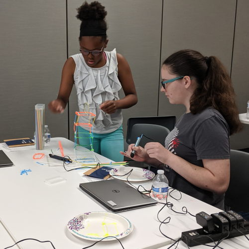 Picture of In Make.Hack.Build., teens make, hack, and build virtual reality games, invention prototypes, robotics, microcontrollers, apps and more.